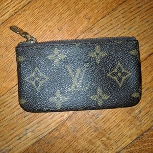 Authentic vintage LV pouch without keychain